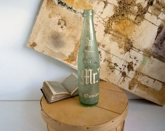 Vintage 1960s Mr. Cola Glass Bottle Pop Bottle Soda Bottle 16 Fluid Ounces Grapette Company Inc