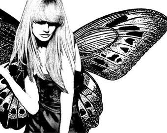 modern fairy woman printable wall art printable wall decor instant download printable art digital download digital print digital paper