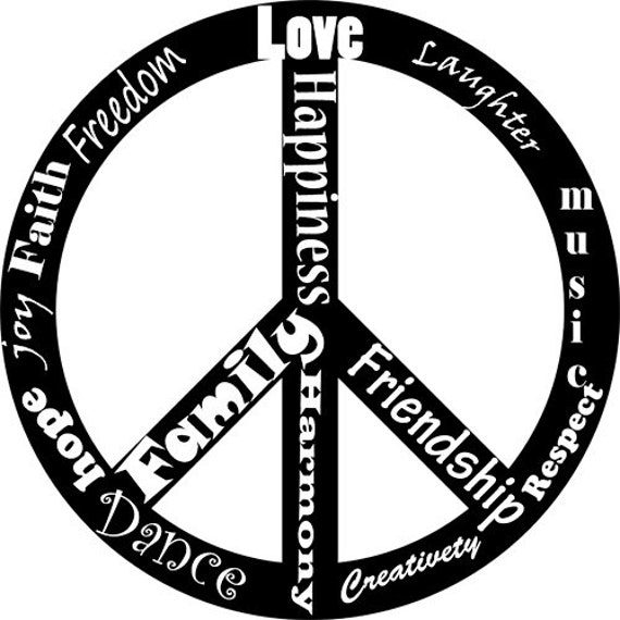 peace sign symbol words clipart png clip art Digital art Download graphics text life quotes digital stamp digi stamp Image typography