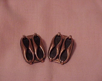 Vintage--RENOIR--Copper--Clip Style--Earrings--Mid Century--Modernist--Signed