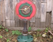 Fireplace Mantel Clock, Table Shelf Desk Clock, Industrial Chic, Home Accent, Junk Clock, Unique Saw Blade Clock, Industrial Metal Clock