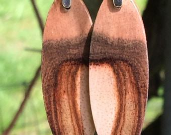 Mango Wood Earrings Big Island Hawaii
