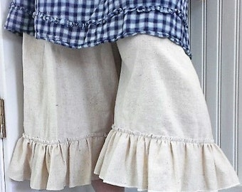 Muslin Bloomers | Washed Muslin Bloomers | Mori Girl Bloomers with Pocket | The Wild Raspberry