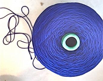 SUPER DUPER SALE!Mercerized Cotton/Mouzakis Butterfly dk wt/Tahki Cotton Classic/Super 10/Cone dk wt.Royal Blue Mercerized Cotton dk wt