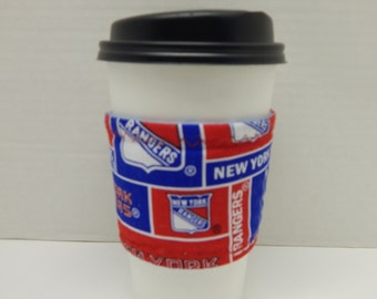 Reusable Up Cycled Drink Wrap NHL Rangers
