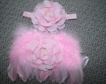 LAST ONE-Baby wings, newborn wings, butterfly wings W headband, fairy wings, newborn girl, newborn photo prop, wings, new baby girl, newborn