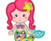 SALE 65% off Applique Mermaid Machine Embroidery Designs - 4x4 and 5x7 - Instant Download Sale