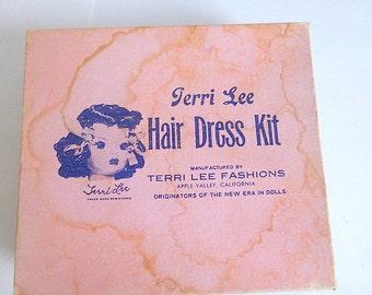 Vintage Terri Lee Hair Dress Kit Vintage Doll Hair Curlers Doll Hair Brush Doll Hair Clips Doll  Barrettes Terri Lee Doll Accessories