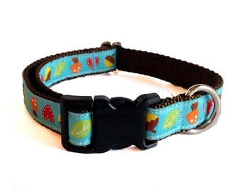 """3/4"""" Acorn and Leaves Dog Collar Buckle or Martingale"""