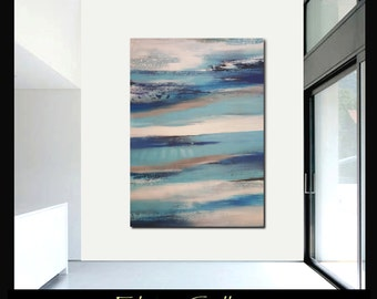 59x44Ex large original modern landscape abstract painting by Elsisy, US artist