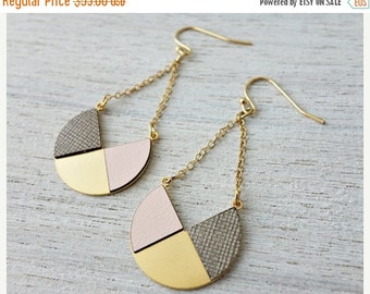 Sale 20% OFF Lizbet Earrings,  geometric signature earrings, Scandinavian design
