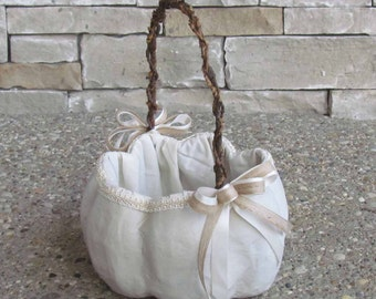 Large Ivory Pumpkin Basket for your Fall Wedding, Example Only!