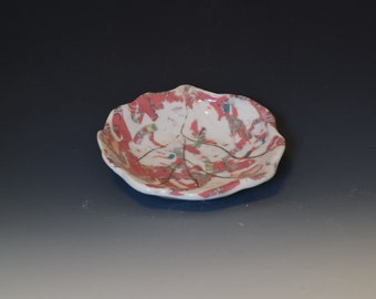 Small red patterned bowl