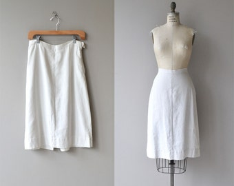 June & July skirt | vintage 1940s skirt | white linen 40s skirt