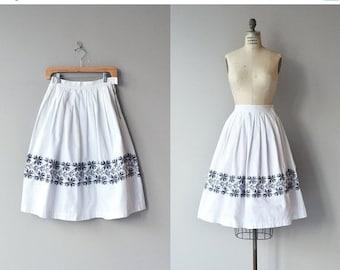25% OFF.... Nordica skirt | vintage 1950s skirt | cotton 50s skirt
