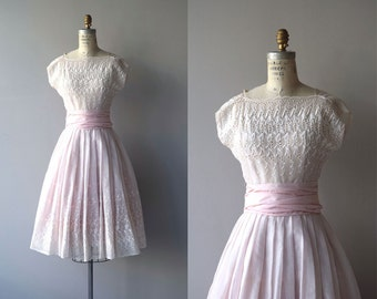 Sweet Lille dress | vintage 1950s dress | eyelet 50s party dress