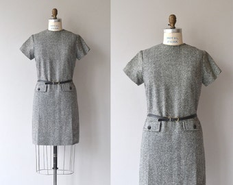 Threepence dress | vintage 1960s dress | tweed 60s mod dress