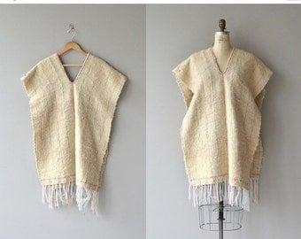 25% OFF SALE Tamalpais wool poncho | vintage 1970s poncho | wool 70s poncho