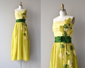 Philip Hulitar silk gown | vintage 1950s dress | formal 50s dress