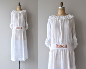 Trakiya dress | vintage 1920s dress | antique cotton batiste 20s dress