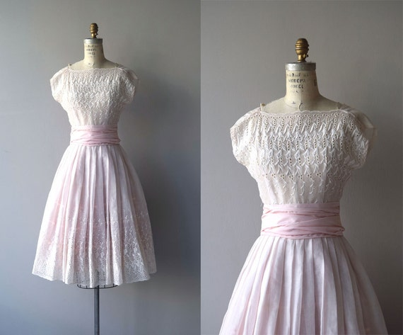 Sweet lille dress vintage 1950s dress eyelet 50s party - Boutique vintage lille ...
