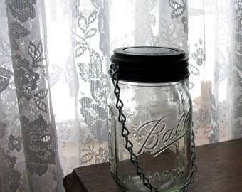 Sale Hanging Mason Jar Solar Light. Set of 4 complete jars and hanging solar lids. Garden lighting sets, solar light set
