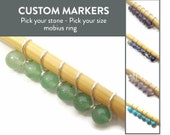 Snag Free Stitch Markers - Custom Mobius - Stitch Markers - Stone Beads