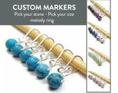 Removable Stitch Markers - Custom Melody - Stitch Markers - Stone Beads