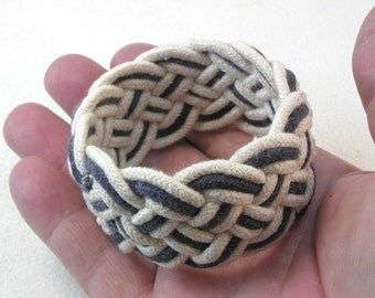 navy cotton cord rope bracelet turks head knot bracelet armband 3856