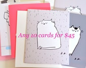 MIXED CARD SET- Choose any 10 cards for 45 dollars