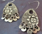 Silver Boho Earrings, Bohemian Jewelry, Statement Earrings, Gift for Her, Free Shipping