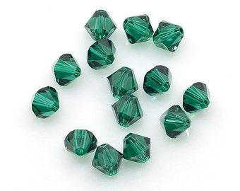 Swarovski Bicone Bead - 6mm - Emerald - Sold in sets of 12