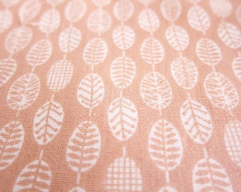 Floral Fabric - Small Leaves on Light Salmon Pink - Fat Quarter