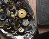 Earth  |  Vintage Rustic Boho Shabby Chic Brown Burgundy Caramel Button Collection.