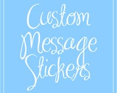 Reserved Custom Stickers 100 stickers.  With thank you chinese character.  2inch.