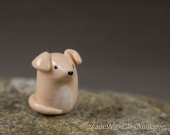 NEW Little Fawn Greyhound - Hand Sculpted Miniature Polymer Clay Dog Animal Miniature Figurine
