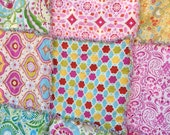 Rag Quilt with Dena Designs Kumari Garden Taza   Lap Picnic Blanket  Size 57 inches square