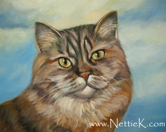 CAT PORTRAIT from your photo 12 x 16