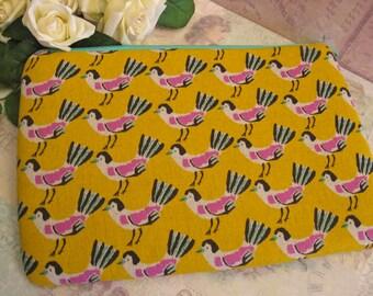 Roadrunner bird /  ipad mini cover/ birds /  ipad mini case/ padded pouch/ Japanese canvas