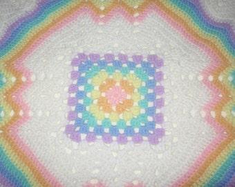 Vintage Crochet Light Weight Baby Blanket