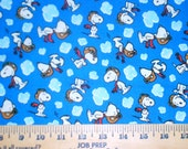 RESERVED FOR CAROL:  Five Yards of Snoopy Red Baron Fabric