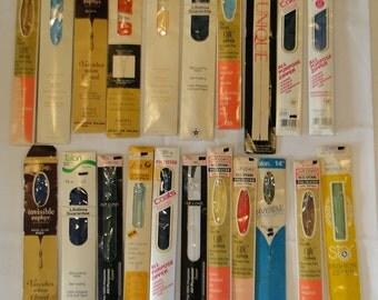 21 Vintage Nylon Zipper Lot