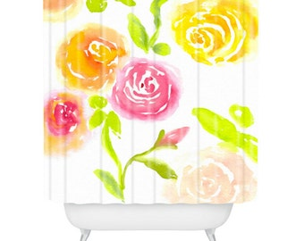 Candy Colored Blooms Shower Curtain