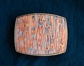 Belt buckle/ Interchangeable belt buckle/full grain leather belt/ unique handmade buckle - Plant cells