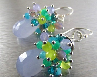 BIGGEST SALE EVER Lavender Gemstone Wire Wrapped Sterling Silver Earrings