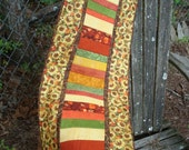 Sunflowers and Fall Leaves Quilted Table Runner