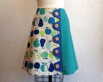 SALE Maria asymmetrical a-line skirt Sz 4