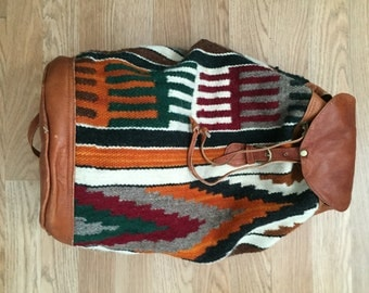 vintage southwestern KILIM backpack travel bag