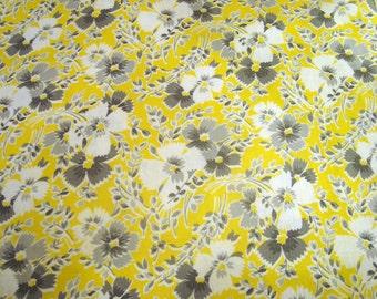 January Sale Feedsack Quilting Fabric, Vintage Fabric, Feedsack Fabric, Feed Sack, Crafting Fabric,  Quilt Blocks, Yellow, Gray