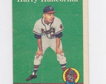 1958 Harry Hanebrink Milwaukee Braves  Topps # 454  baseball card
